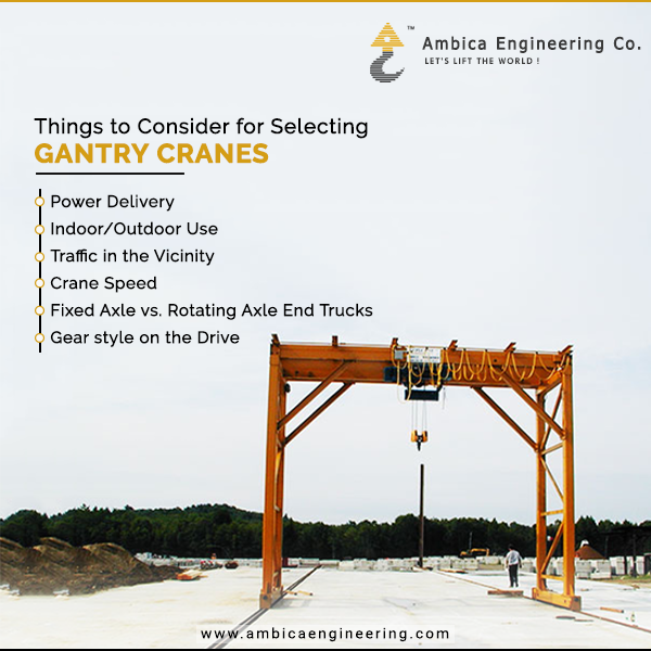Gantry crane Factors